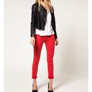 J. Crew | Minnie Straight Leg Red Career Pants 0